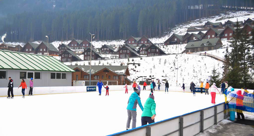 Skating rink in Bukovel