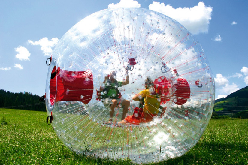 Zorbing in Bukovel
